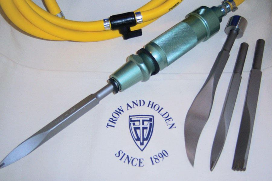 Trow And Holden Pneumatic Mortar Removal Set Concrete