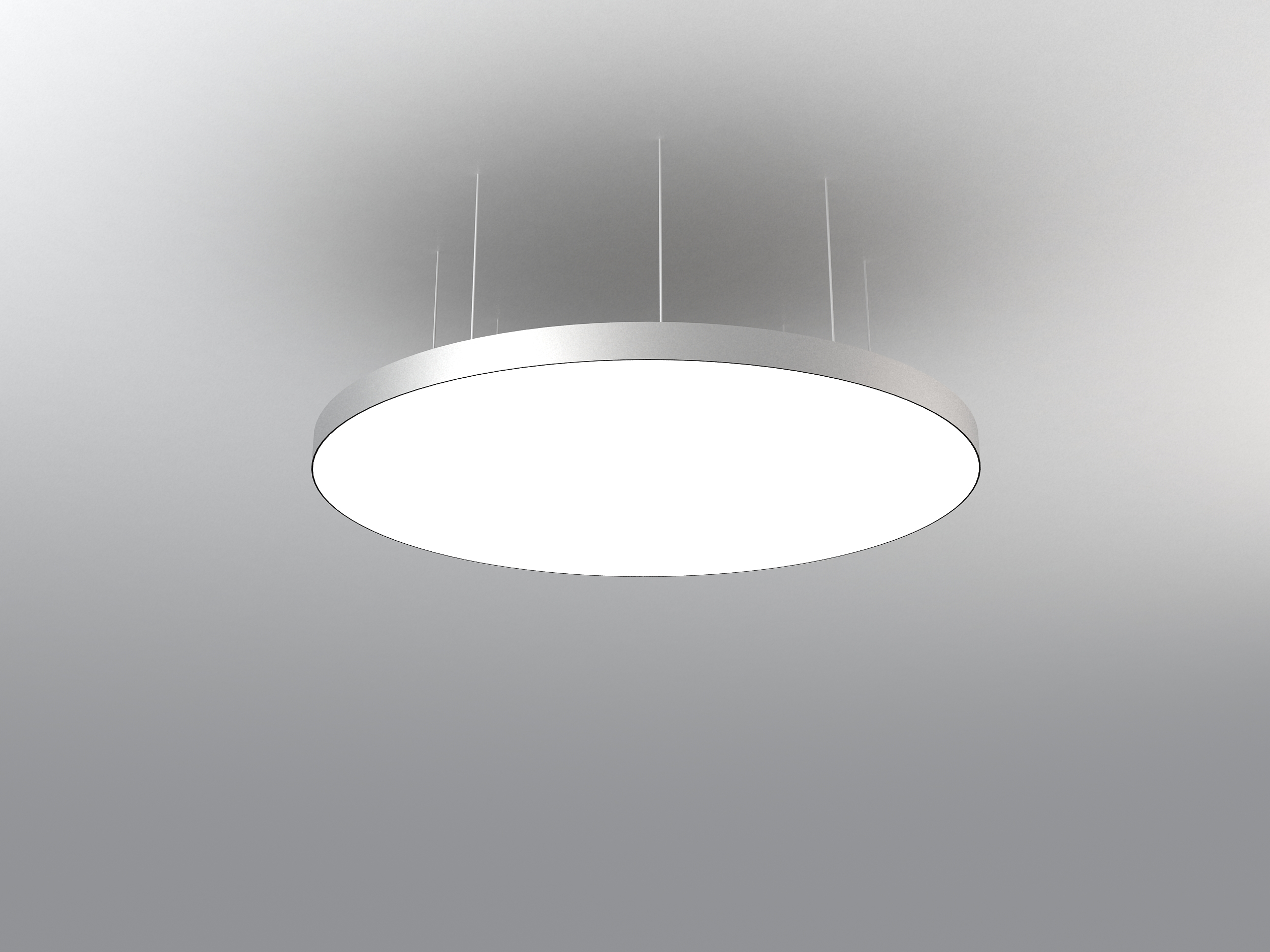 Luminous Stretch Film Ceiling Light Disc Architect