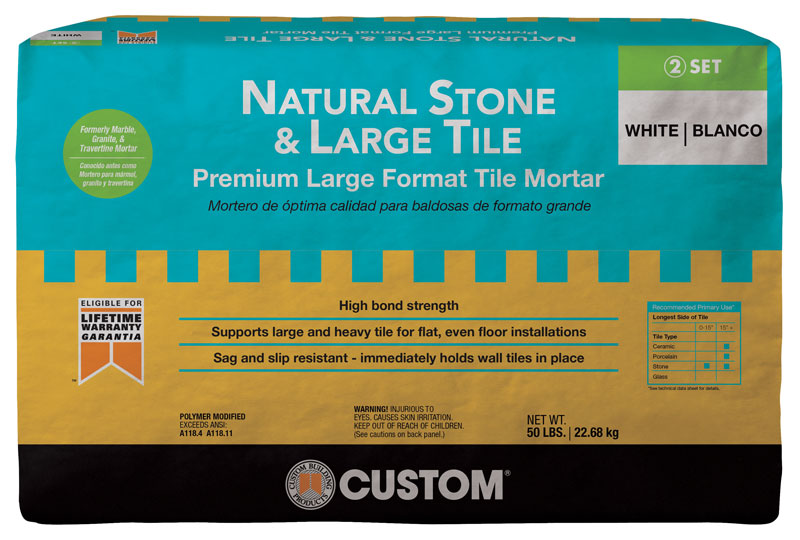 Custom S Natural Stone And Large Tile Mortar From Quikrete