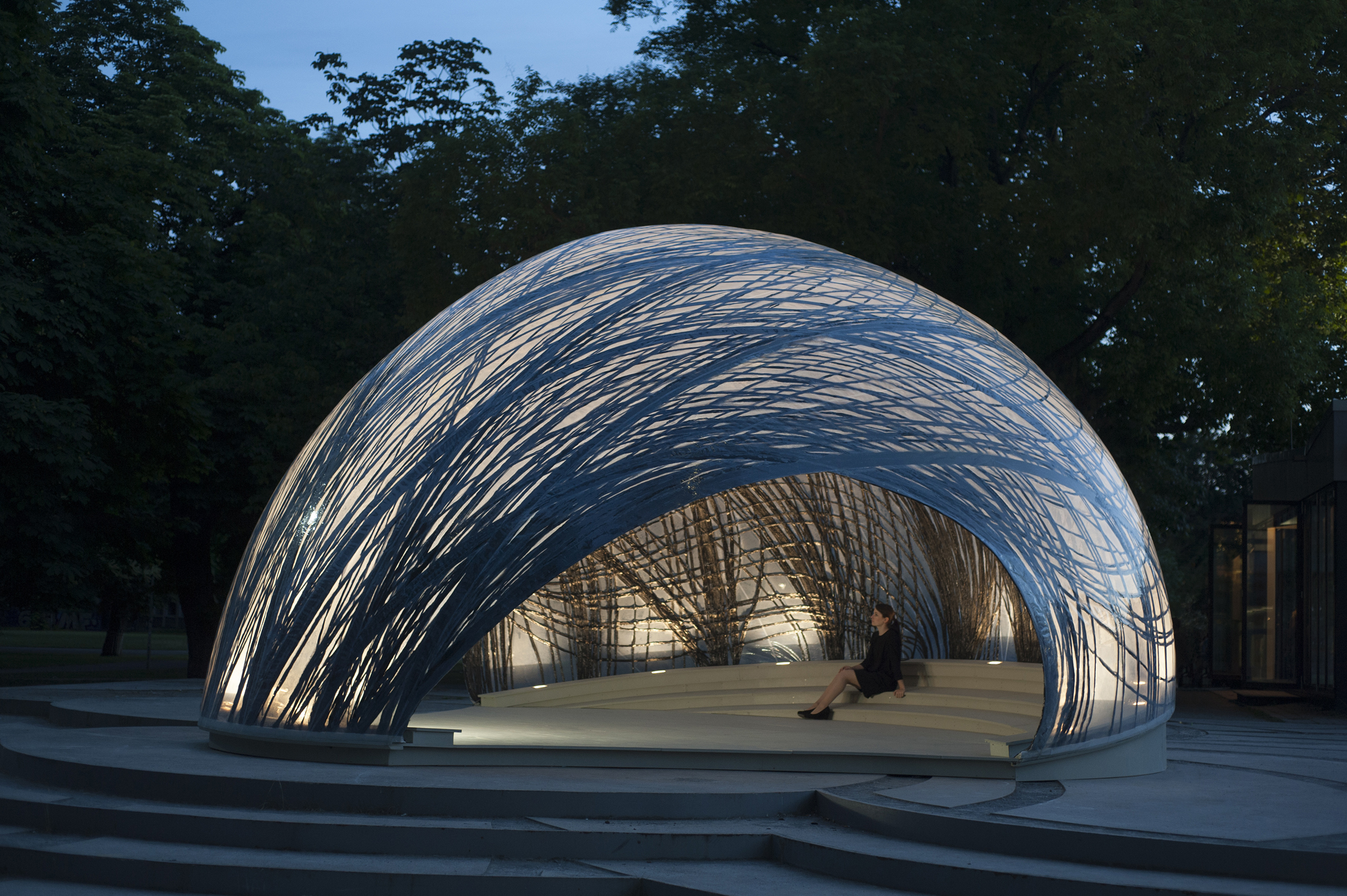Icd itke 2014 2015 research pavilion architect magazine for Pavilion architecture design