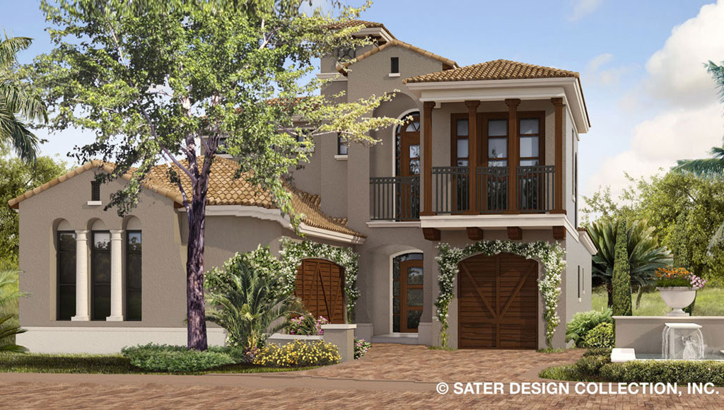 Narrow-Lot Luxury Designs from Dan Sater | Builder Magazine on sater luxury house plans, stephen fuller plans, garages with apartments plans,