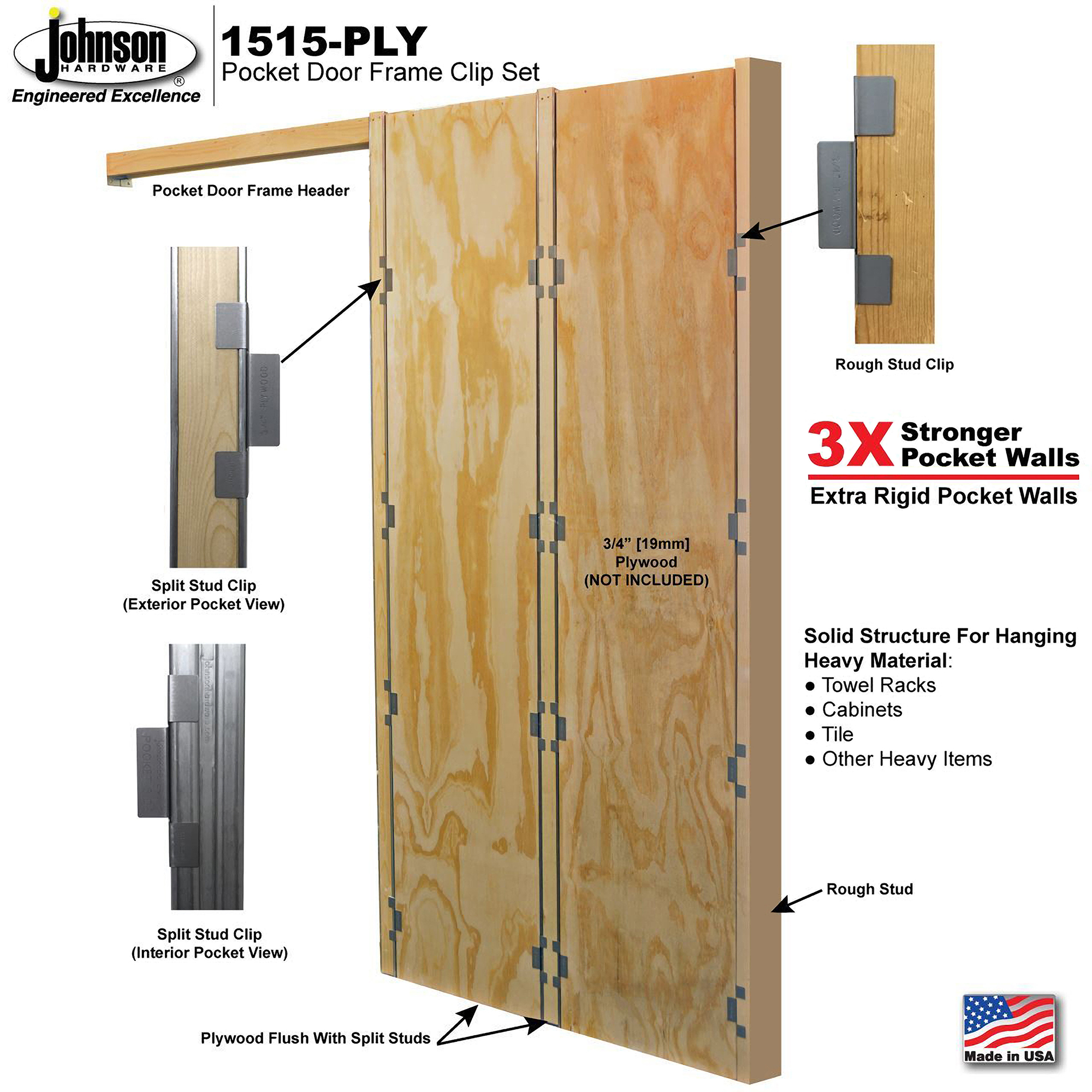 Pocket Door Frame Plywood Clip Set Architect Magazine