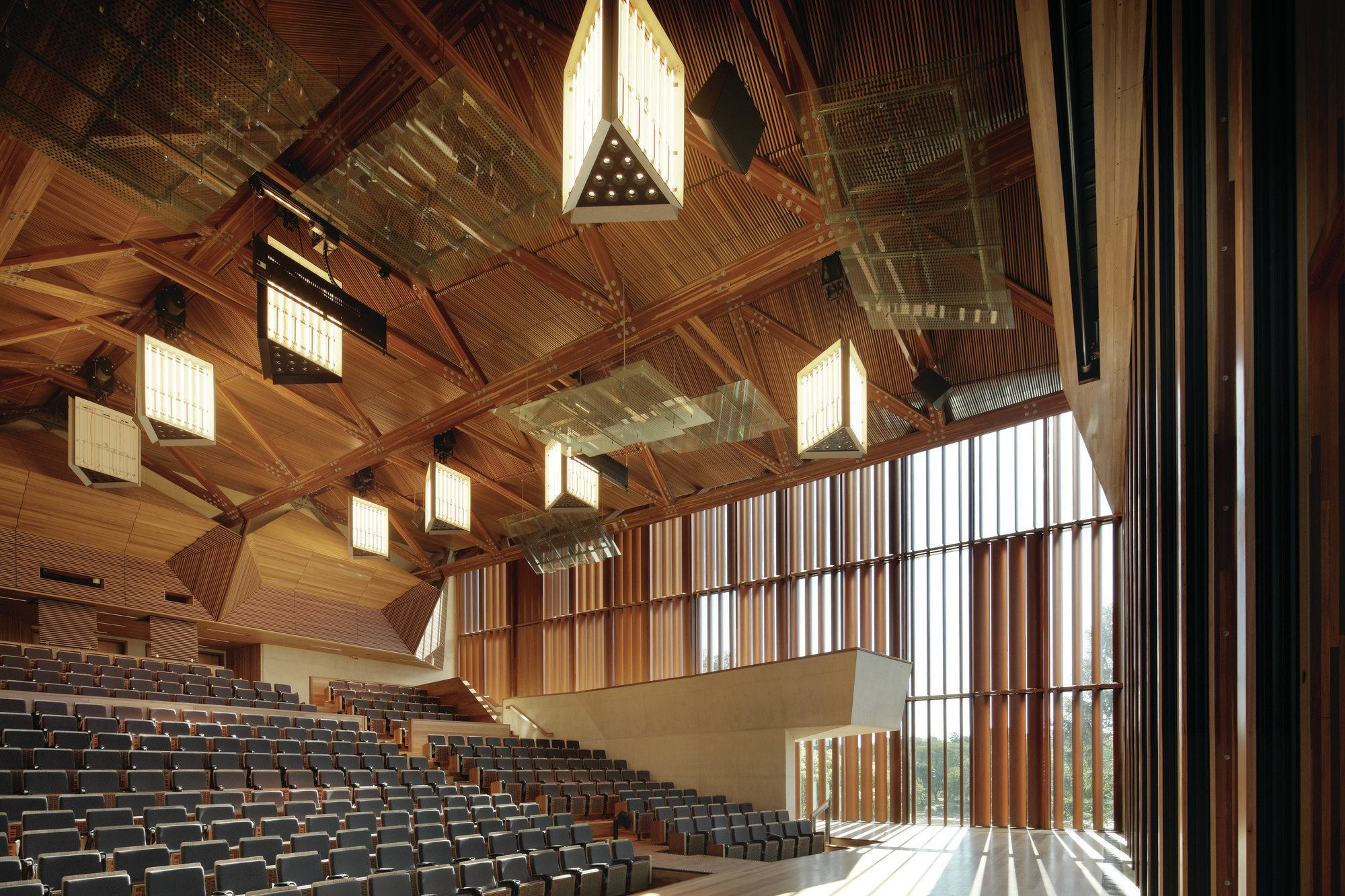 the auditorium at the university of queensland architect magazine wood ceilings design detail. Black Bedroom Furniture Sets. Home Design Ideas