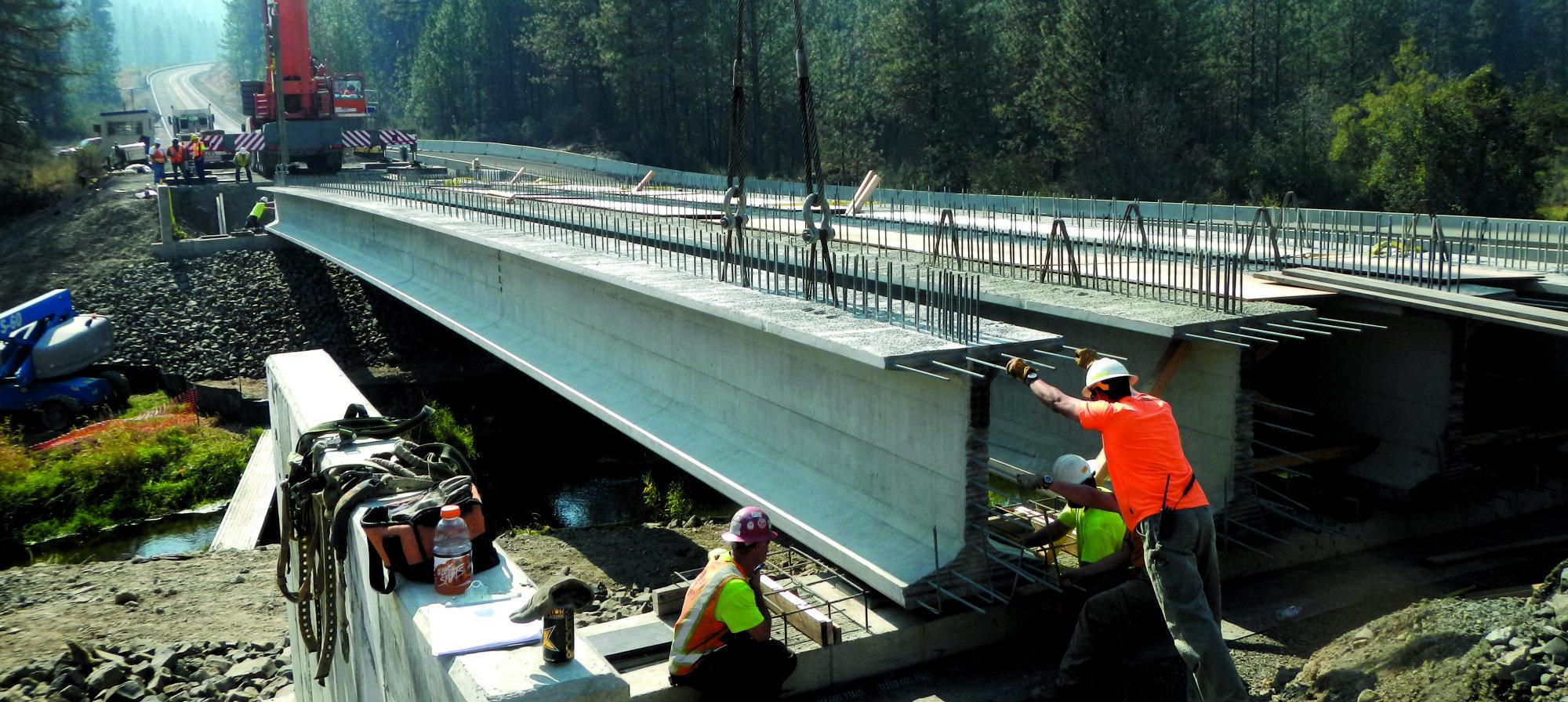 136 Foot Super Girder Used On Bridge Project Concrete