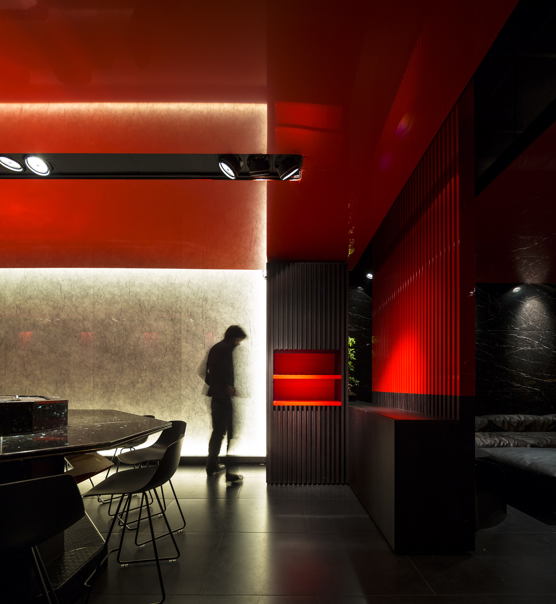 Zen sushi restaurant architect magazine carlo