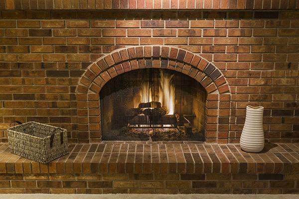 Masonry Wood Burning Fireplace